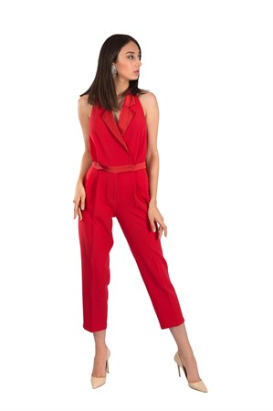 Smokin Jumpsuit Red